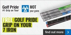 Free Golf Pride grip on your 7 iron