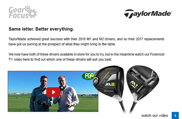 TaylorMade's 2017 M drivers