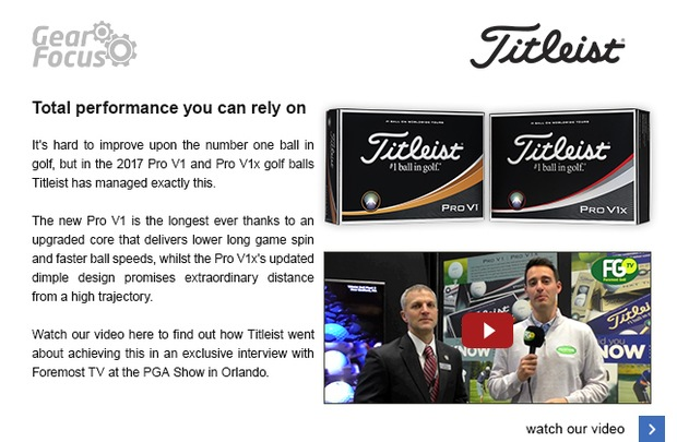 Titleist's 2017 Pro V1 golf ball